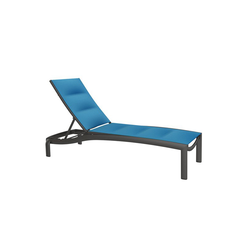 tropitone 891533ps kor padded sling armless chaise lounge. Black Bedroom Furniture Sets. Home Design Ideas
