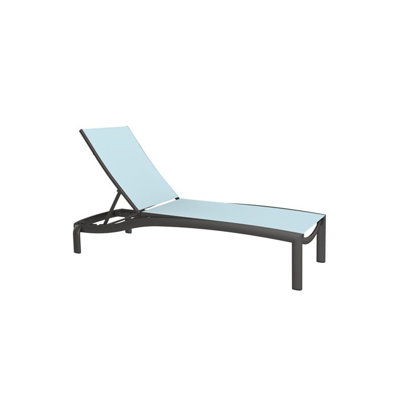 Tropitone 891533 Kor Relaxed Sling Armless Chaise Lounge