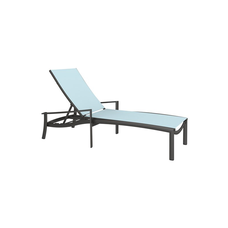 Tropitone KOR Relaxed Sling Chaise Lounge Discount Furniture at Hickor