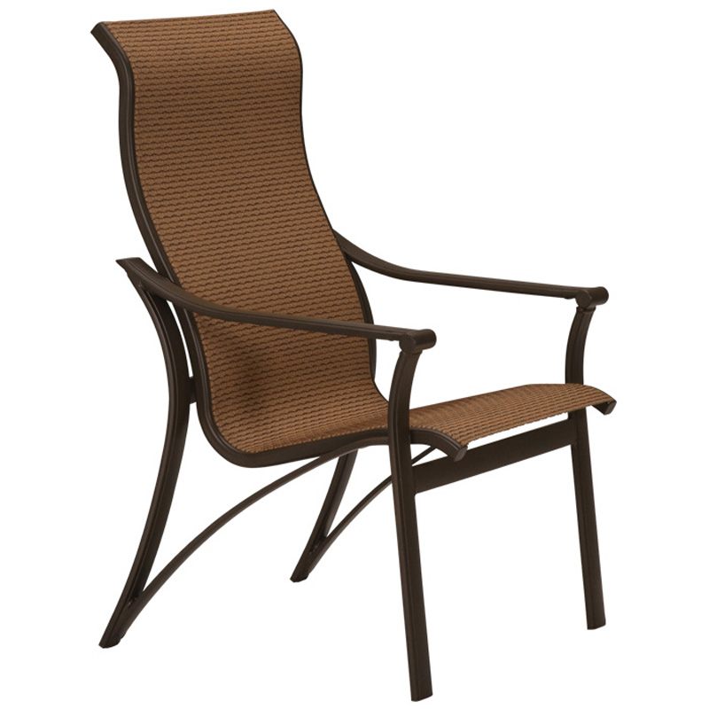Tropitone 161101 corsica sling high back dining chair for Cheap high back dining chairs