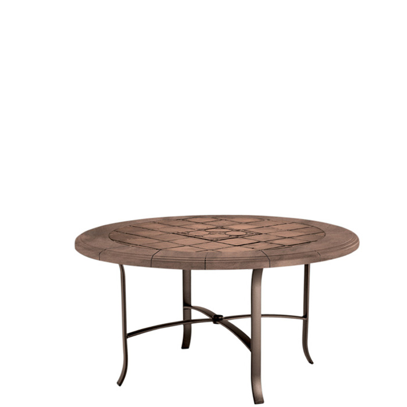 Tropitone 4248swb tiled stone tables dining table base for for Round stone top dining table