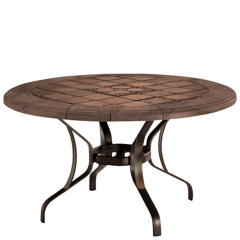 Tropitone 500048swb tiled stone tables kd dining table for Stone dining table