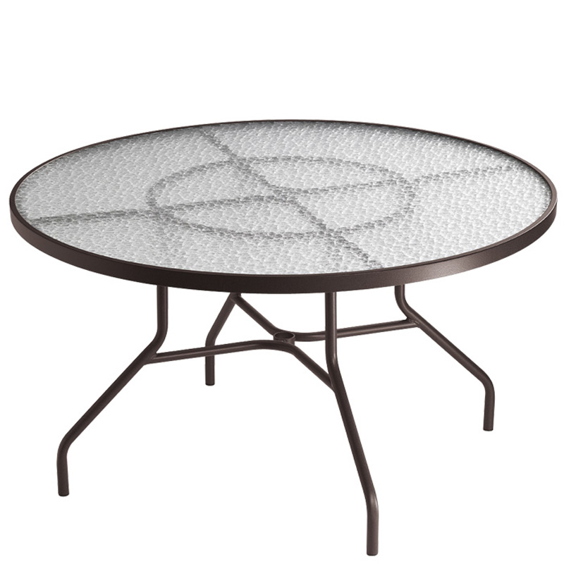 48 Inch Round Dining Umbrella Table 647n Acrylic And Gl Tables Tropitone