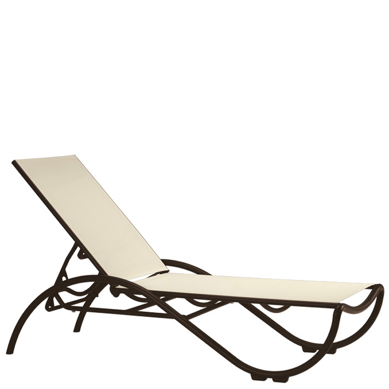 Tropitone La Scala Relaxed Sling Chaise Lounge Discount Furniture at H