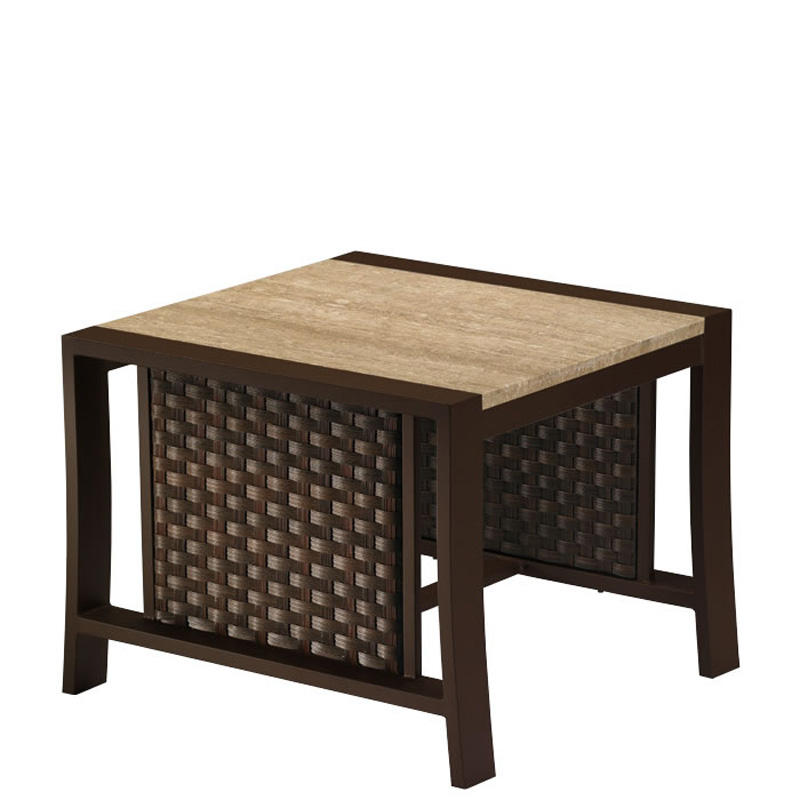WICKER END TABLE OUTDOOR AND PATIO Hickory Park Furniture Galleries