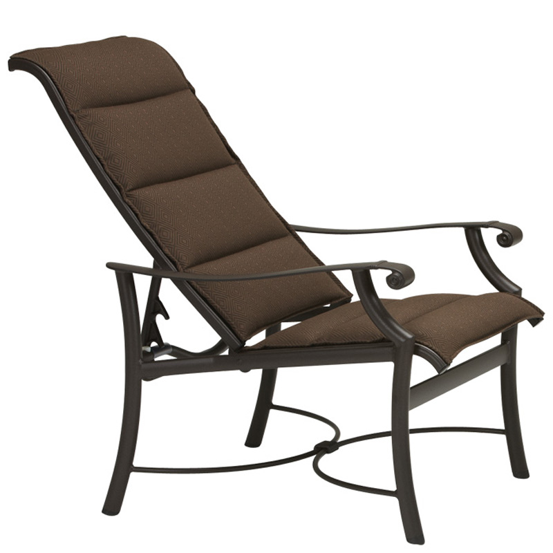 Tropitone 710132ps Montreux Padded Sling Chaise Lounge