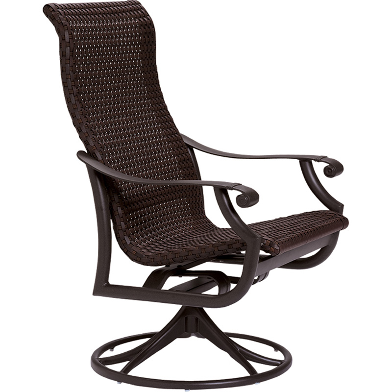 Tropitone 710170ws montreux woven swivel rocker discount for Outdoor swivel chairs design