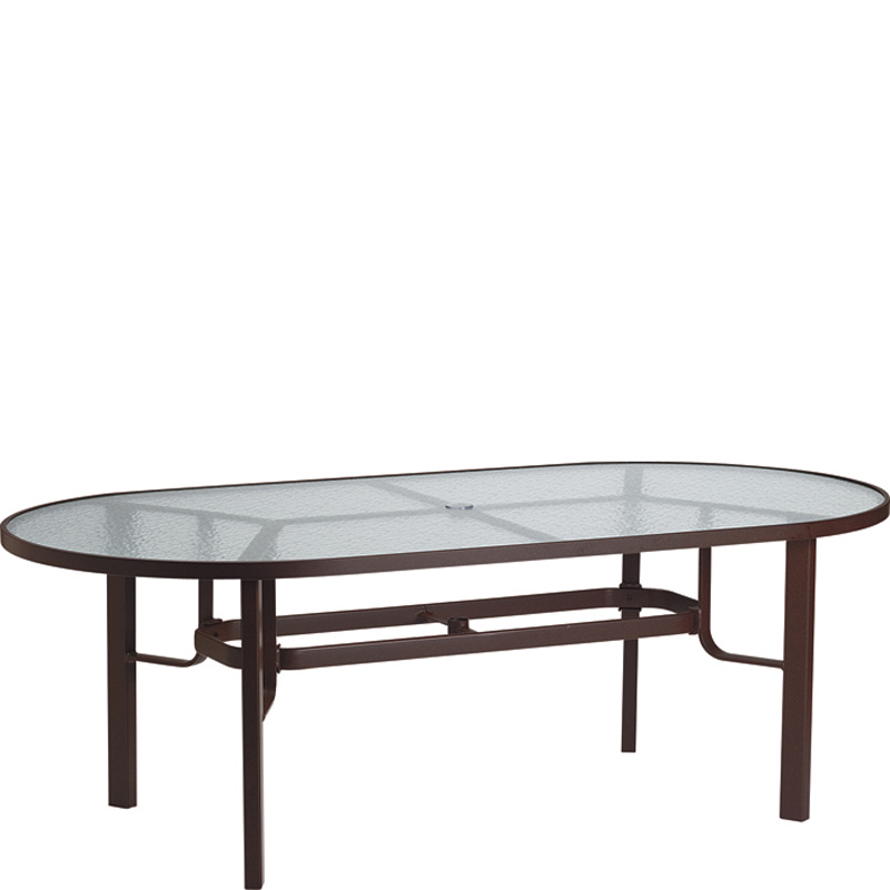 Tropitone 730584 Acrylic And Glass Tables 84 Inch X 42 Inch Oval Dining Table Kd Discount