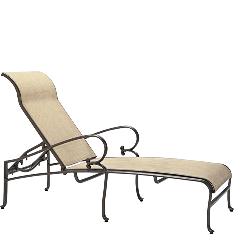 tropitone 450432 radiance sling chaise lounge discount furniture at hickory park furniture galleries. Black Bedroom Furniture Sets. Home Design Ideas
