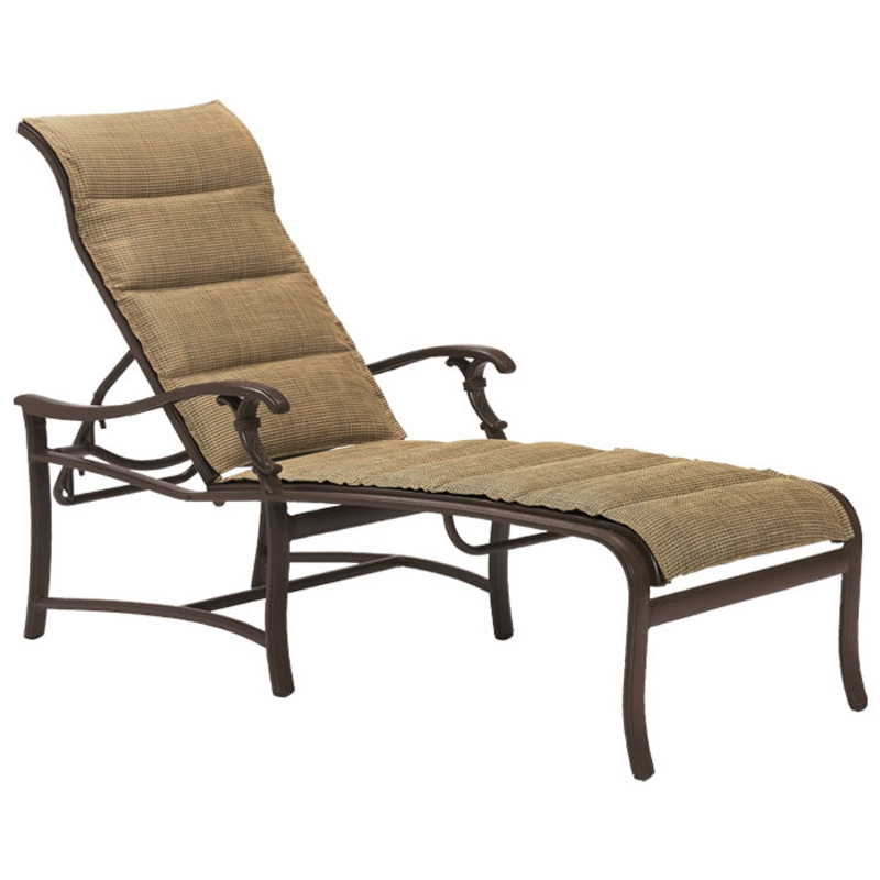 tropitone 650732ps ravello padded sling chaise lounge. Black Bedroom Furniture Sets. Home Design Ideas