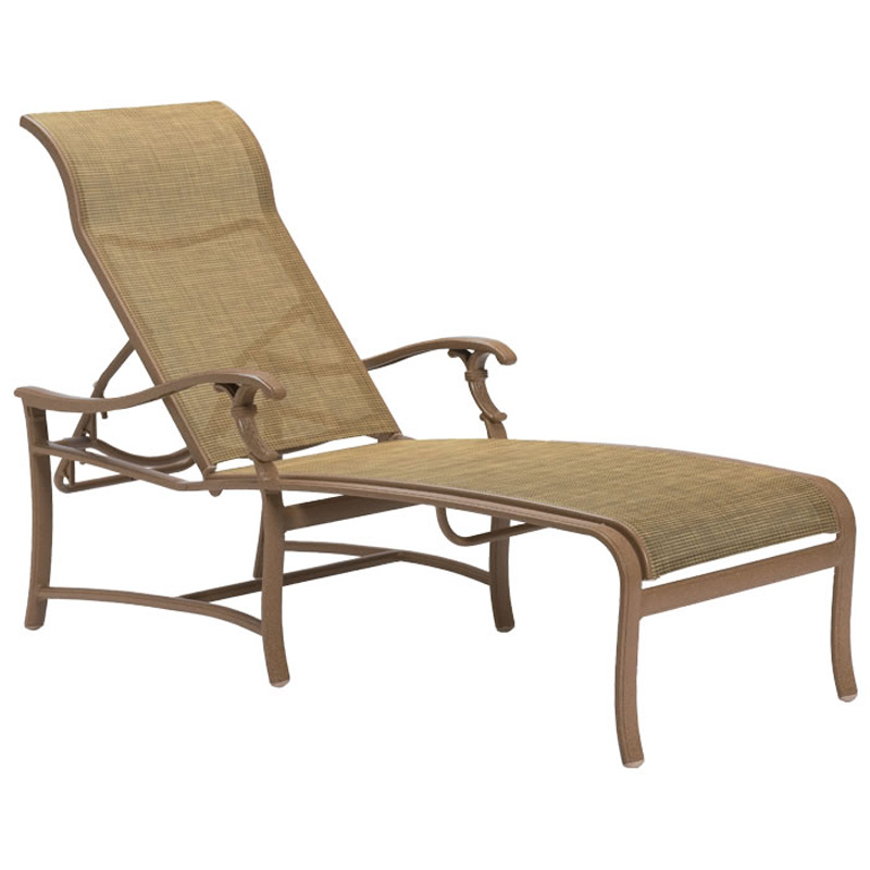 Wicker chaise lounge chair great wicker chaise lounge for Agio sling chaise lounge