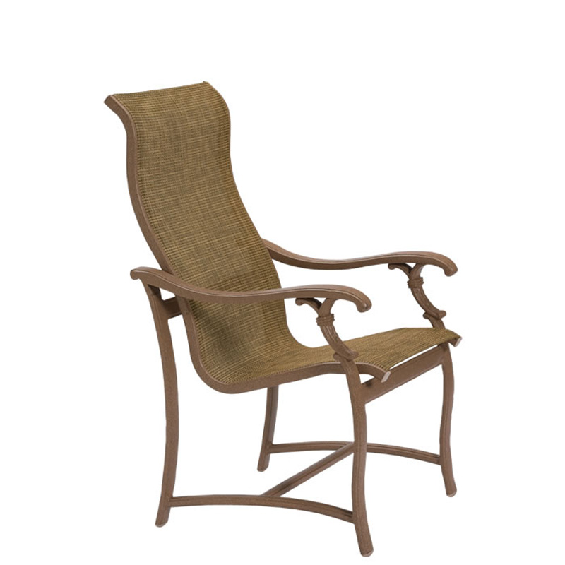 Tropitone 650701 ravello sling high back dining chair for Cheap high back dining chairs