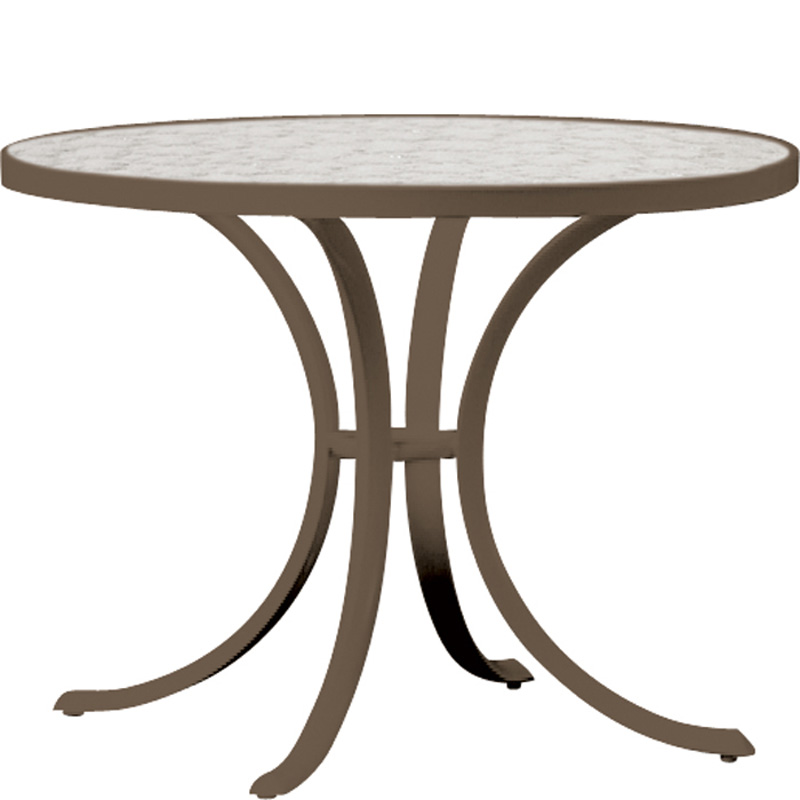 36 Inch Round Dining Table 1836. Cafe Wood Umbrella Tropitone