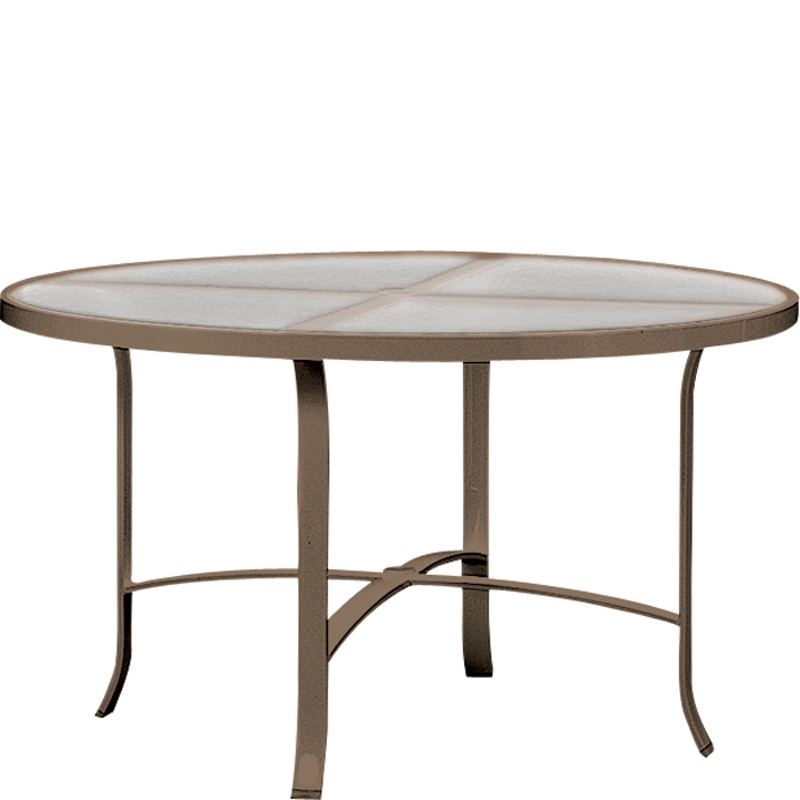 Tropitone Acrylic And Glass Tables Inch Round Dining Table - 48 inch oval dining table