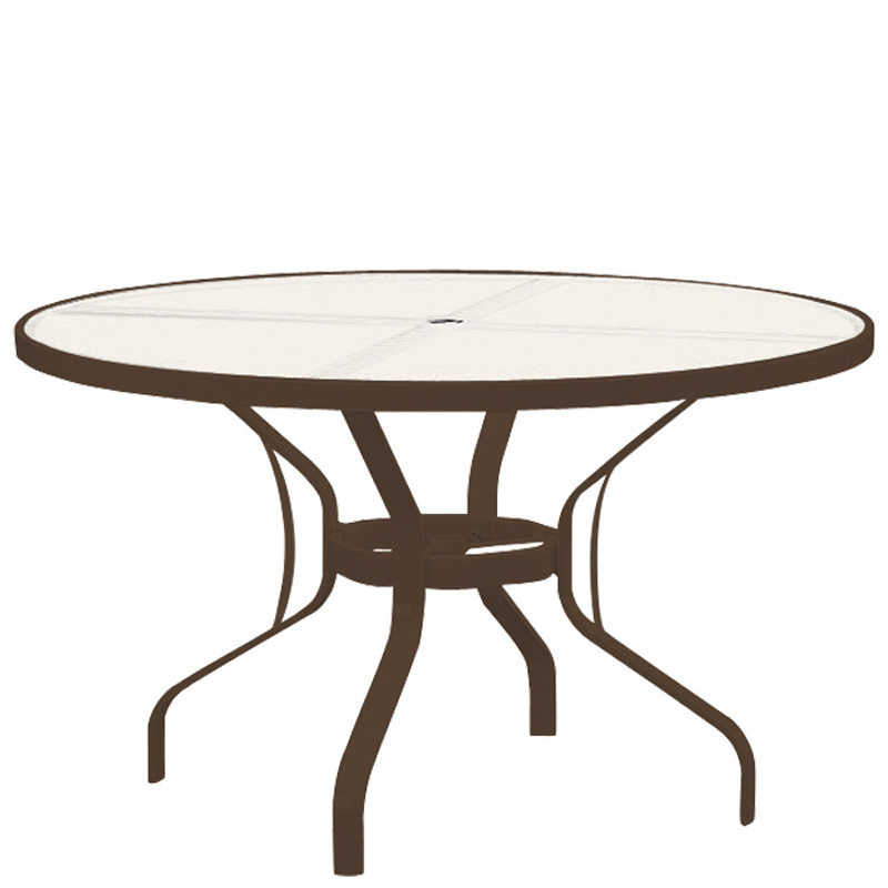 Tropitone 500048 Acrylic And Glass Tables 48 Inch Round Dining Table KD Disc