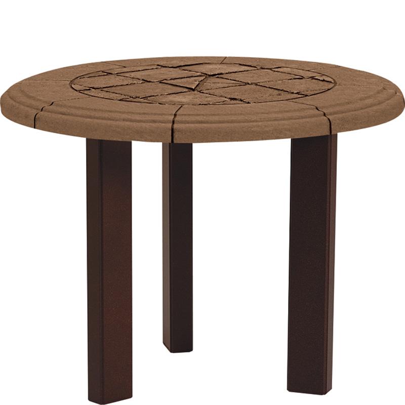 Tropitone 730582swb tiled stone tables tea table base for for Side table base