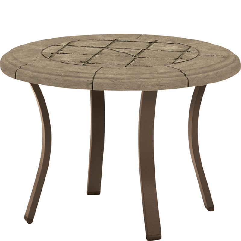 Wicker dining table outdoor and patio hickory park for Side table base