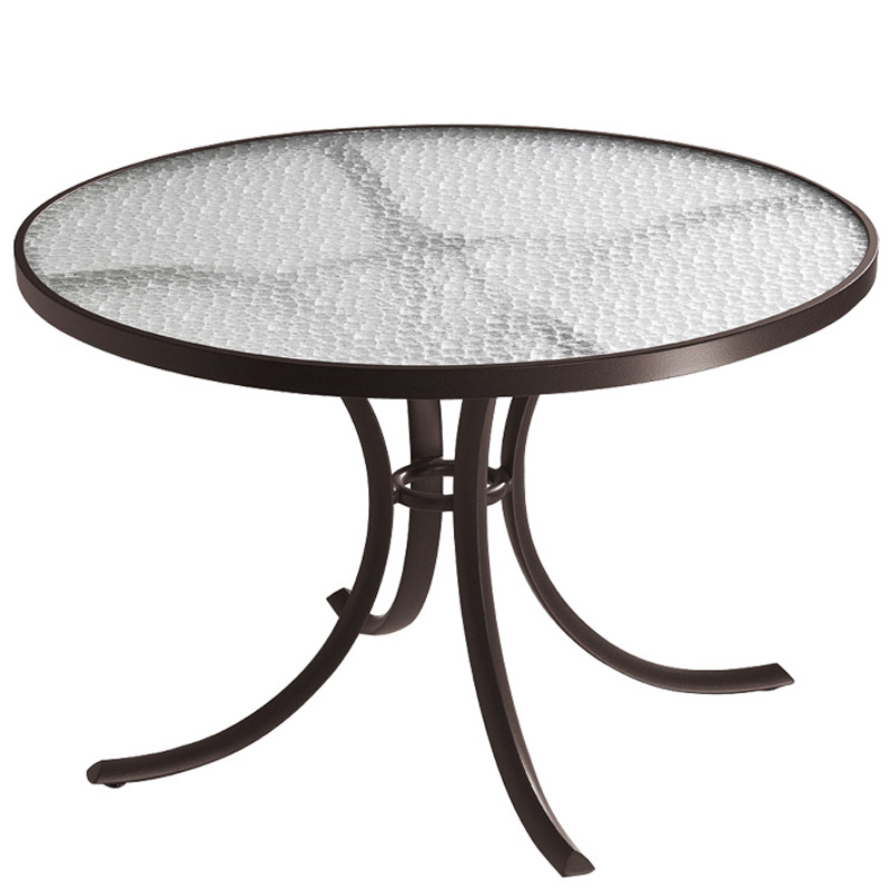 Tropitone 1842 acrylic and glass tables 42 inch round for 42 inch round dining table
