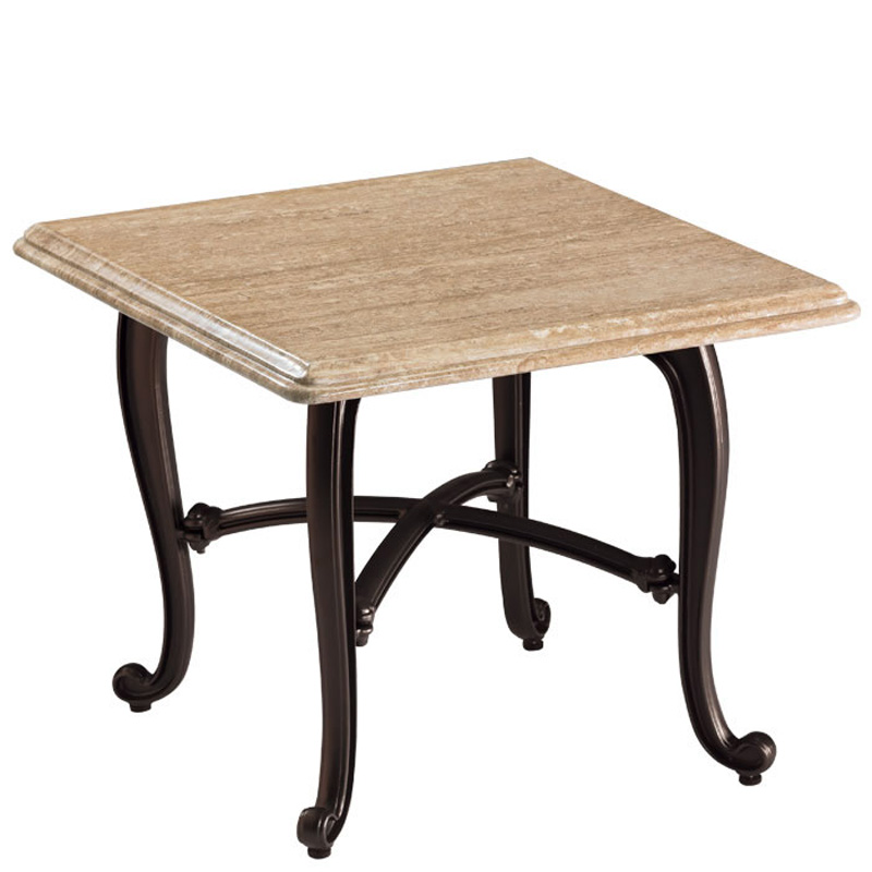 Travertine End Table 840838SWB Natural Stone Tables Tropitone