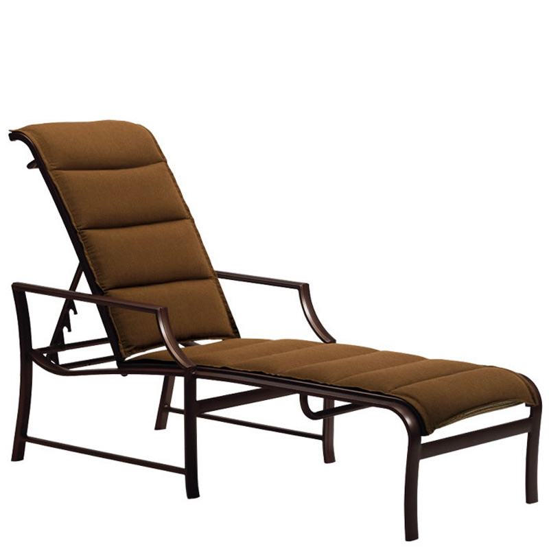 tropitone 820832ps windsor padded sling chaise lounge discount furniture at hickory park. Black Bedroom Furniture Sets. Home Design Ideas