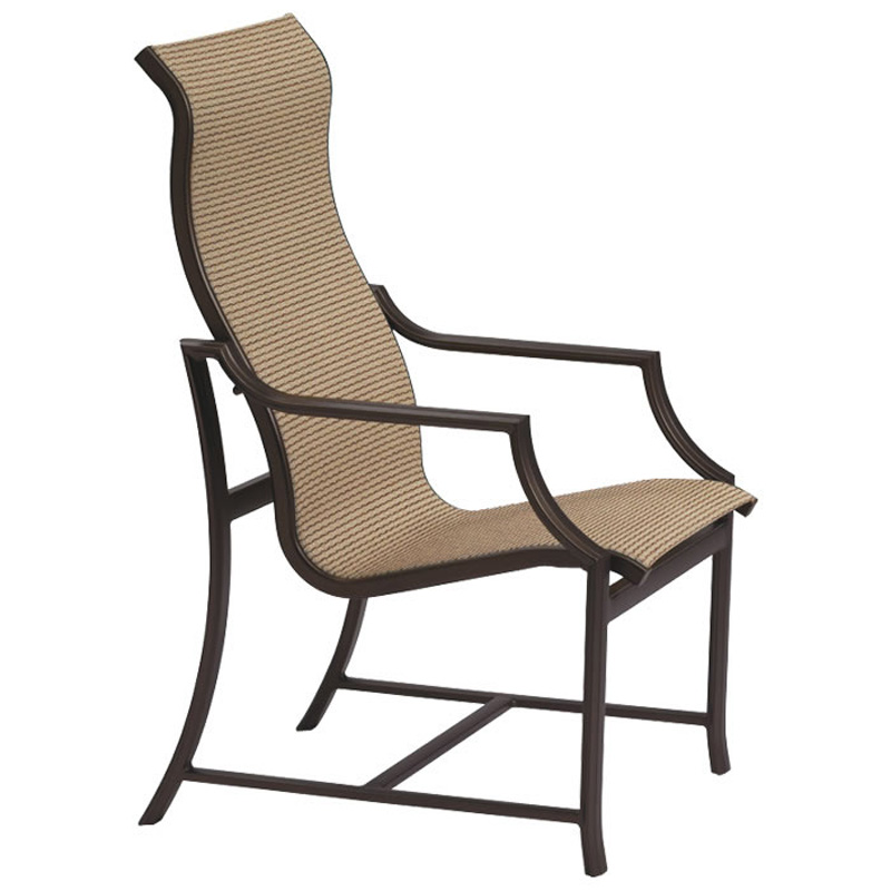 Tropitone 820801 windsor sling high back dining chair for Cheap high back dining chairs