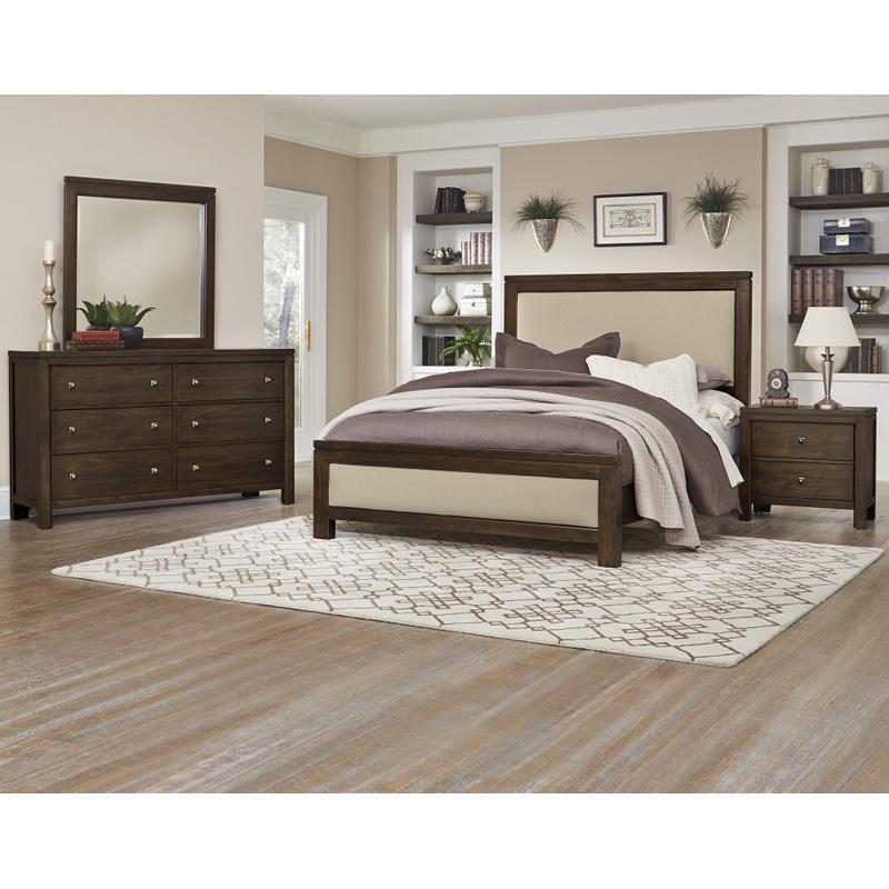 Cheap Furniture Delivered: Vaughan Bassett 410-2-1 Kismet Upholstered Bed King