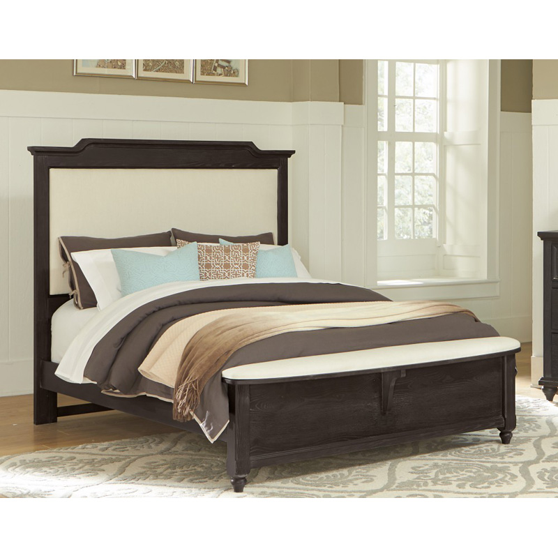 Vaughan Bassett 370 50 2 Nantucket Upholstered Bed With Bench Footboard King Discount Furniture