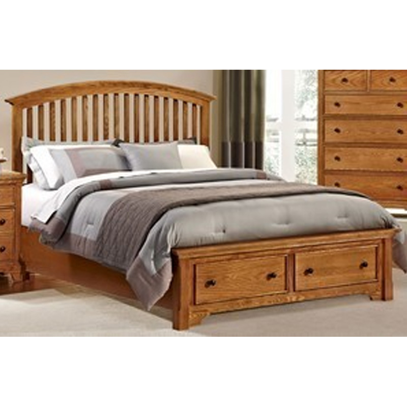Vaughan Bassett Forsyth Arched Storage Bed Discount Furniture At Hickory Park Furniture Galleries