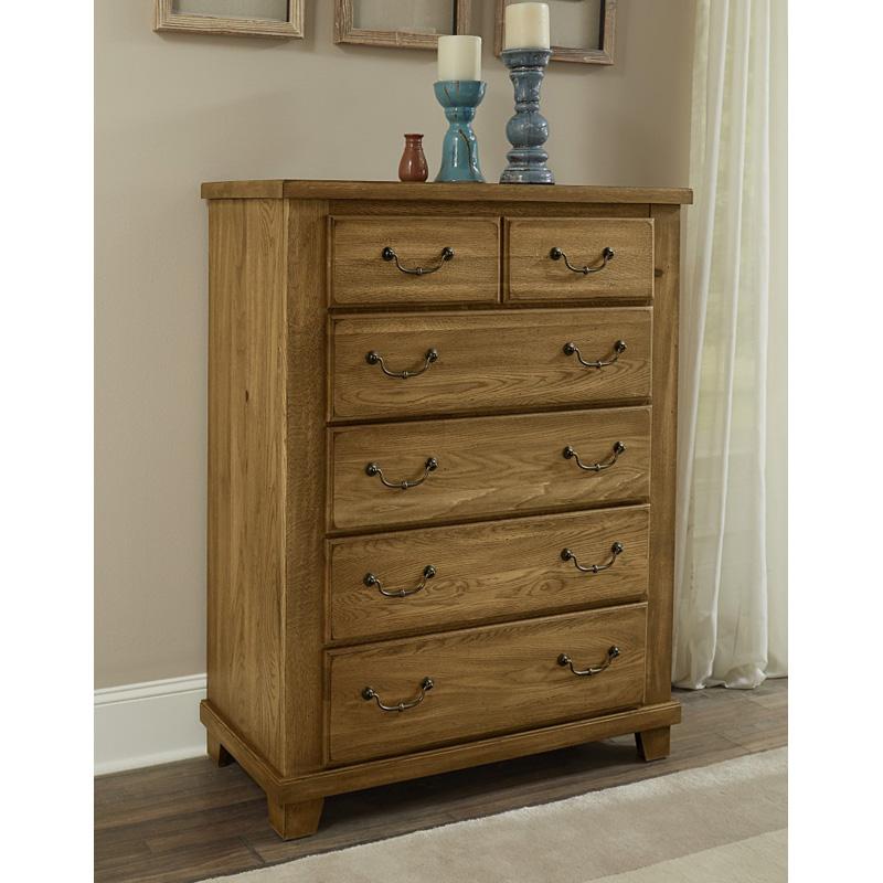 Vaughan Bassett Com: Vaughan Bassett 425-1151 American Oak Honey 5 Drawer Chest