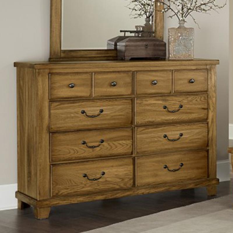 Vaughan Bassett 425 American Oak Honey 8 Drawer Bureau