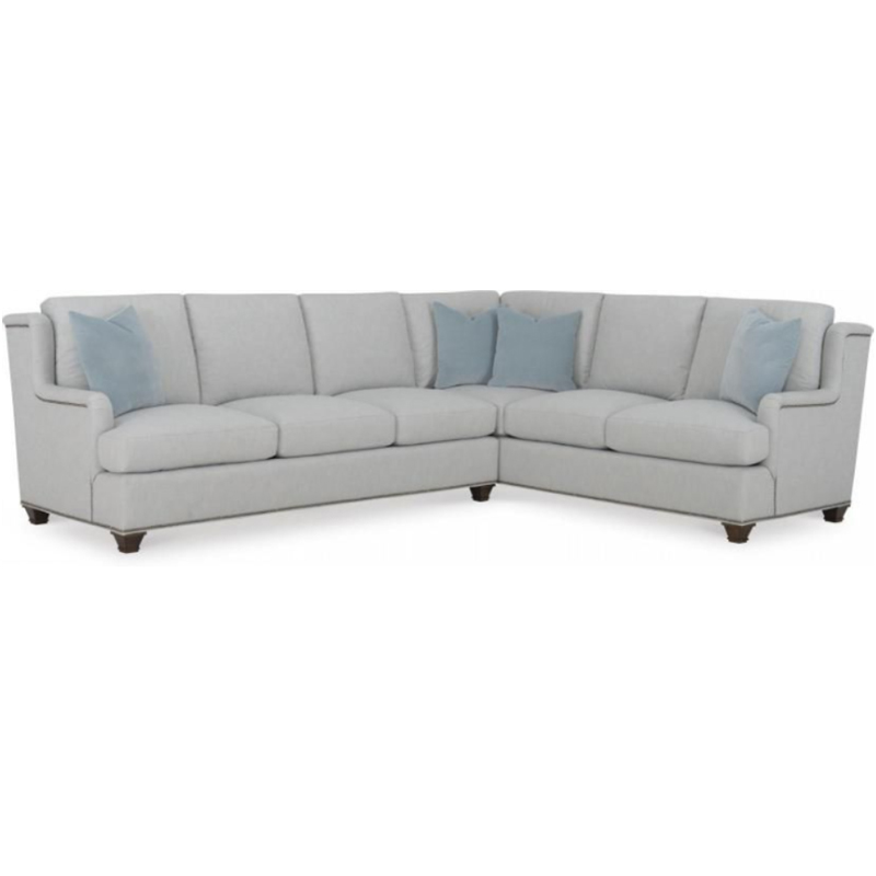 Wesley Hall 2056 Macintosh Sectional Discount Furniture At