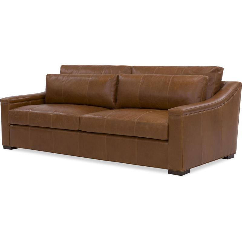 Inexpensive Leather Sofa: Wesley Hall L2024-96 Lowell Leather Sofa Discount