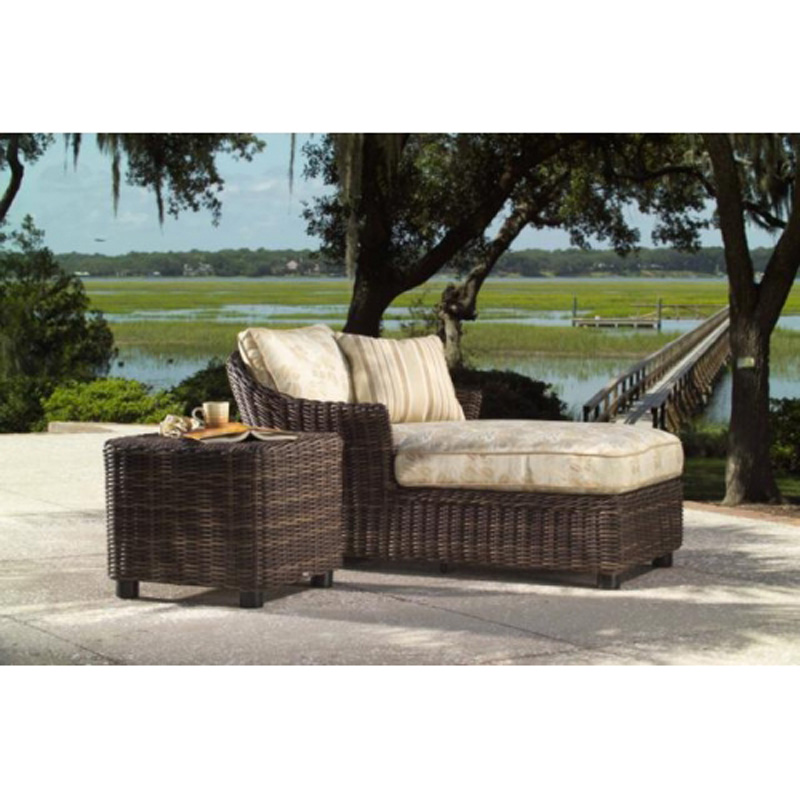 Whitecraft sonoma chaise lounge and end table discount for Chaise and a half lounge