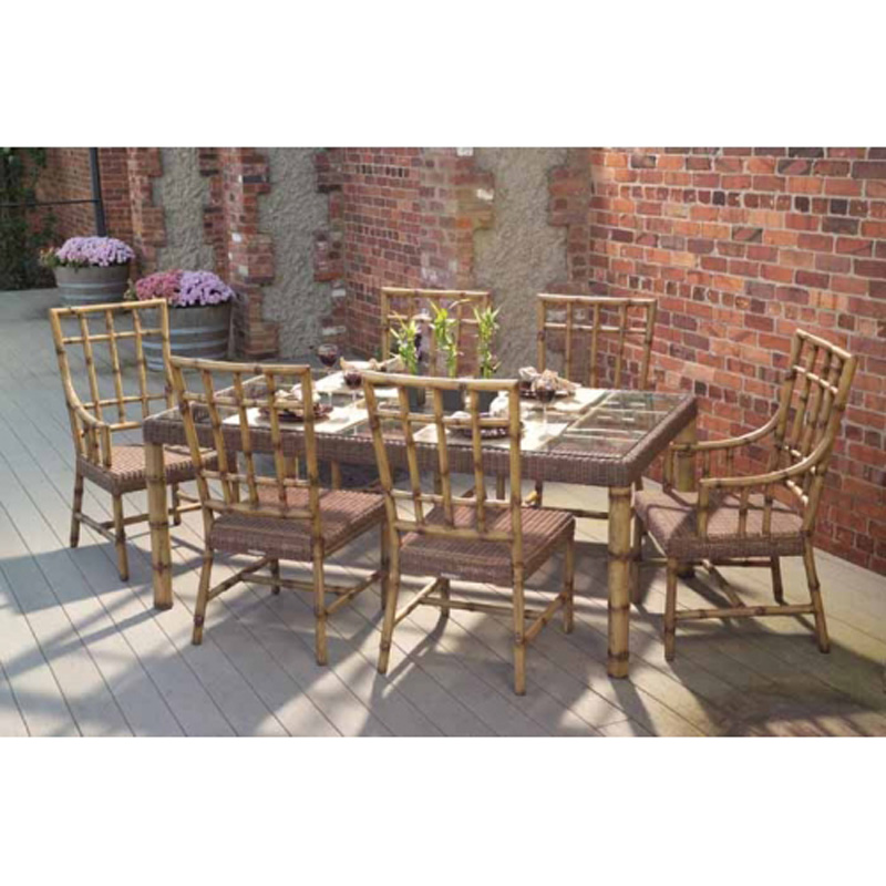 Whitecraft South Terrace Outdoor Dining Furniture Set With Cushions Discount Furniture At
