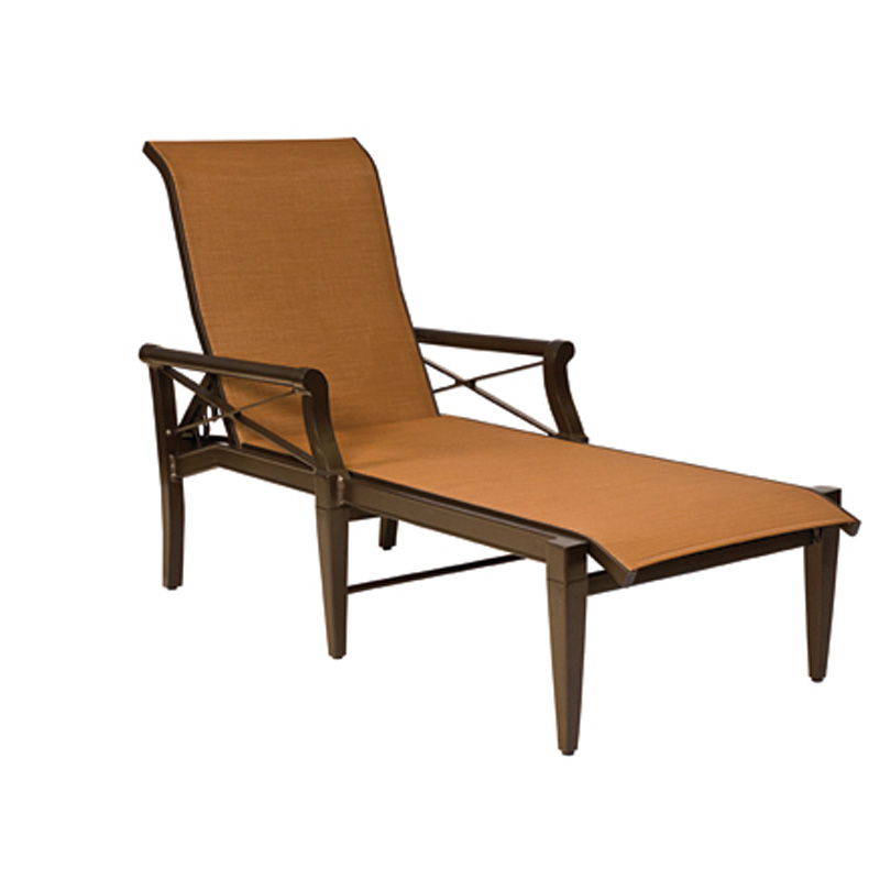 woodard 3q0470 andover sling adjustable chaise lounge discount furniture at hickory park. Black Bedroom Furniture Sets. Home Design Ideas