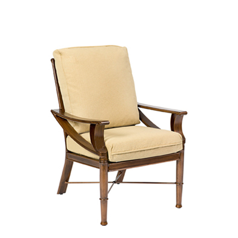 Woodard 590401 Arkadia Cushion Dining Arm Chair Discount