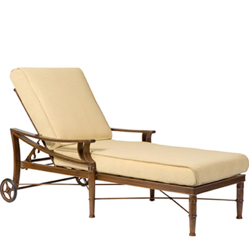 woodard 590470 arkadia cushion adjustable chaise lounge. Black Bedroom Furniture Sets. Home Design Ideas