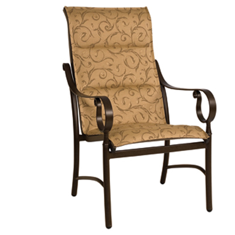 Woodard 800525 Ridgecrest Sling High Back Dining Arm Chair