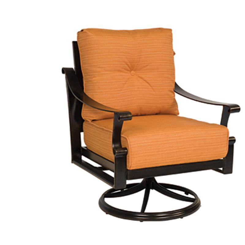 Woodard 8Q0477 Bungalow Cushion Swivel Rocking Lounge Chair Discount Furnitur