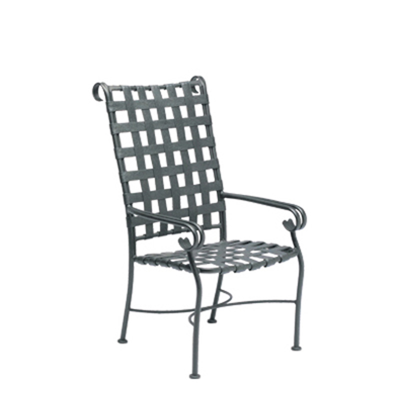 Woodard 160425 ramsgate high back dining arm chair for Cheap high back dining chairs