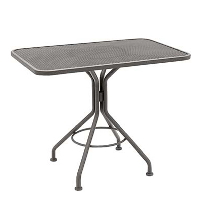 Mesh Top Set Up 24 Inch X 36 Inch Rectangular Dining Table 280047. Dining  Tables And Bases Woodard