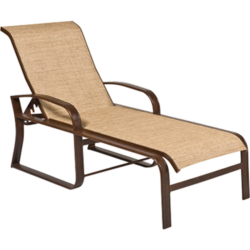 woodard 2fh470 cayman isle sling adjustable chaise lounge discount furniture at hickory park. Black Bedroom Furniture Sets. Home Design Ideas
