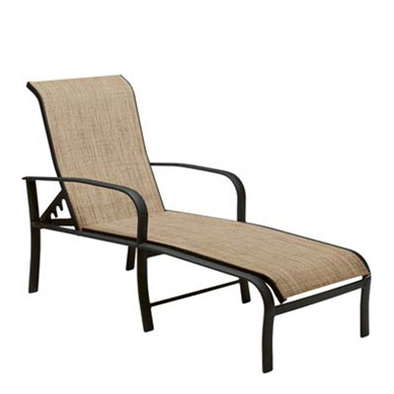 Woodard 2ph470 fremont sling adjustable chaise lounge for Chaise lounge cheap