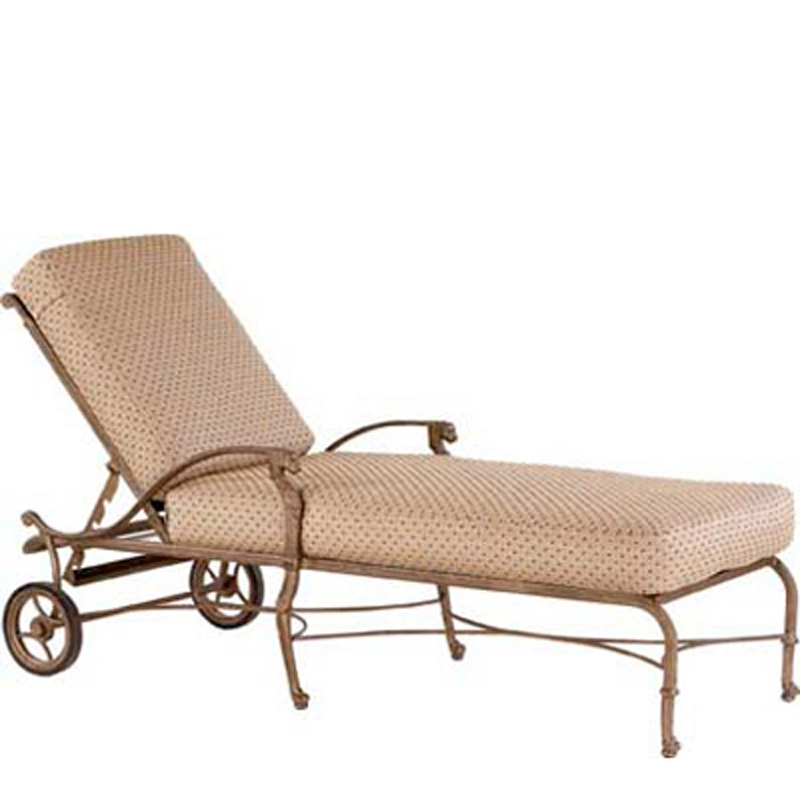 Woodard 30028c luxor adjustable chaise lounge discount for Chaise lounge cheap