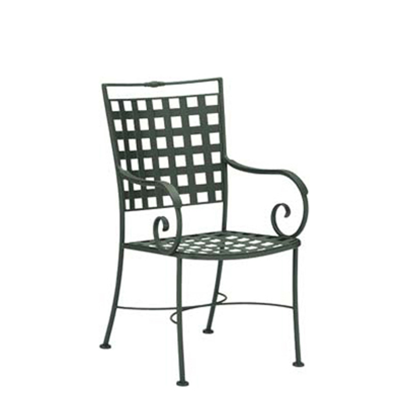 Woodard 3c0021 Sheffield Dining Arm Chair With Arm Rest