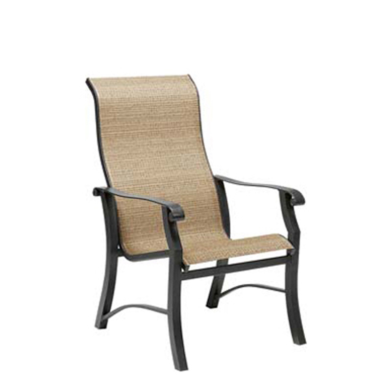 Cheap Furniture Delivered: Woodard 42H426 Cortland Sling High-Back Dining Arm Chair