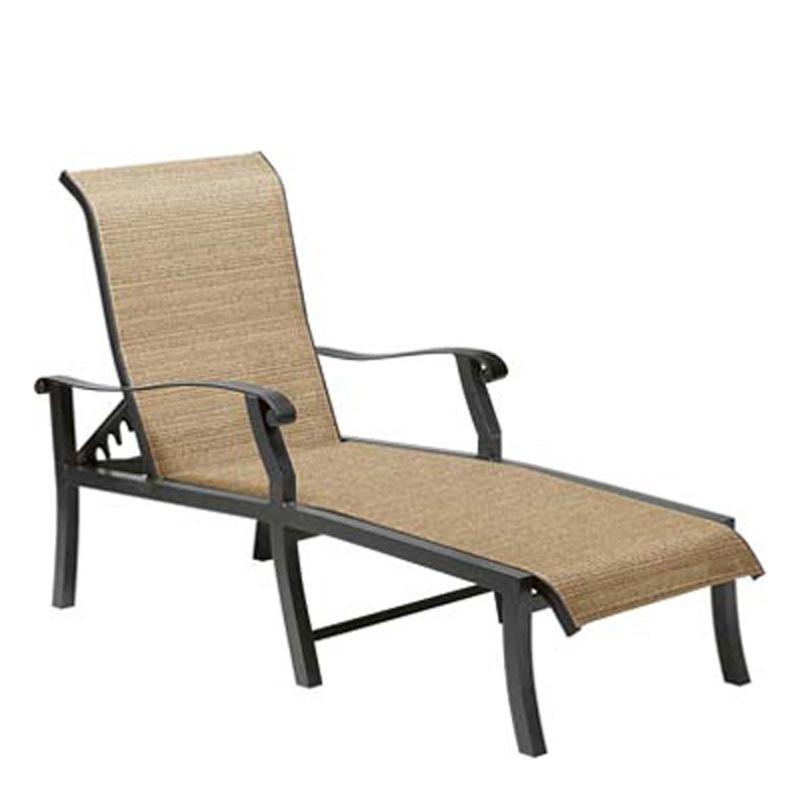 woodard 42h470 cortland sling adjustable chaise lounge discount furniture at hickory park. Black Bedroom Furniture Sets. Home Design Ideas
