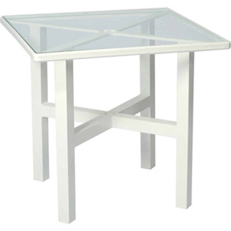 Tables, Accessories U0026 Bases Elite 30 Inch Square Dining Table   Clear Glass  4V0530 Tables Accessories And Bases Woodard