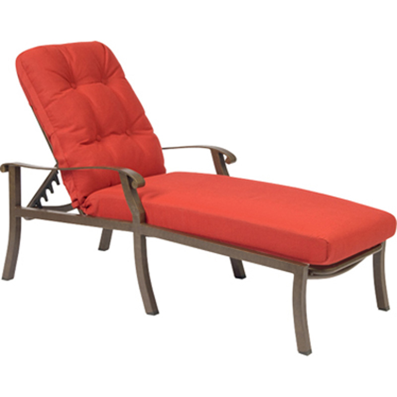 Woodard 4zm470 cortland cushion adjustable chaise lounge for Chaise lounge cheap uk
