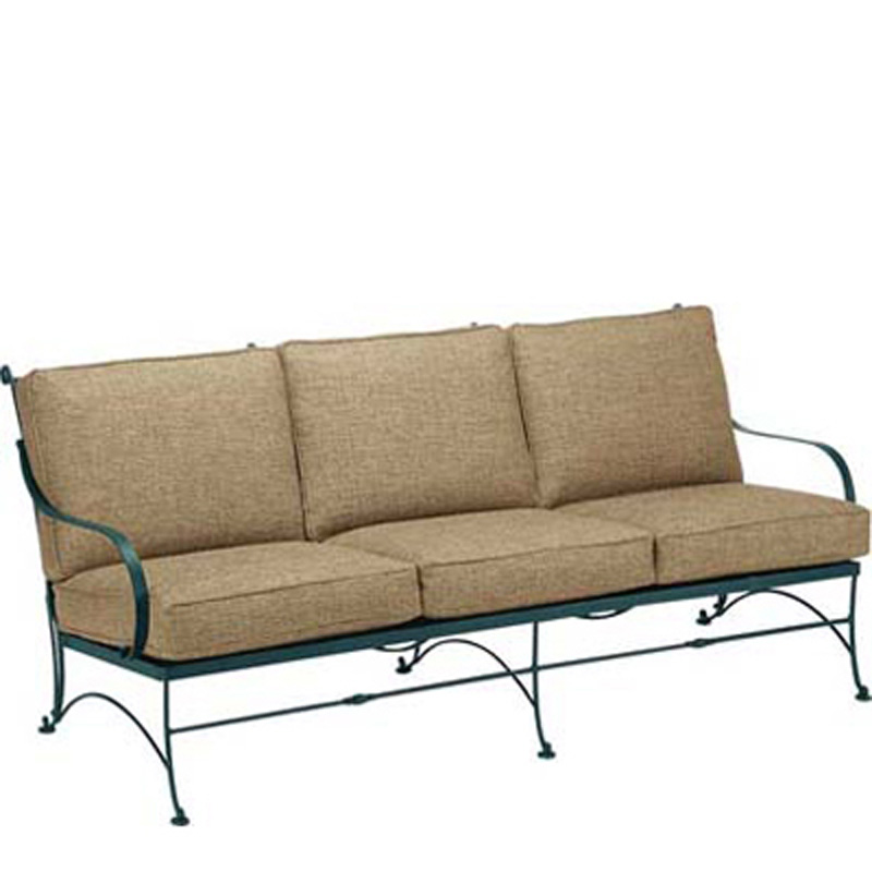 Woodard 5n0020 verona sofa with cushions discount for Broyhill chaise lounge cushions